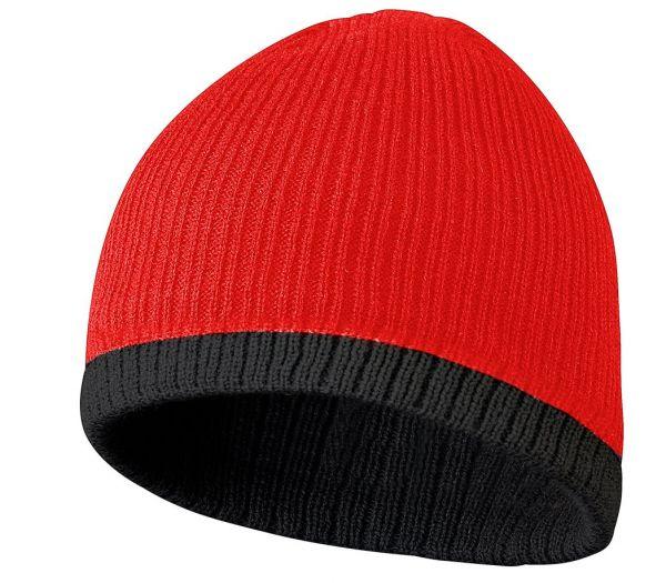 Strickmütze Thinsulate rot/schwarz
