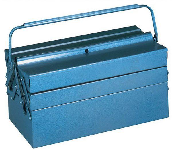 Metall-Werkzeugkasten blau