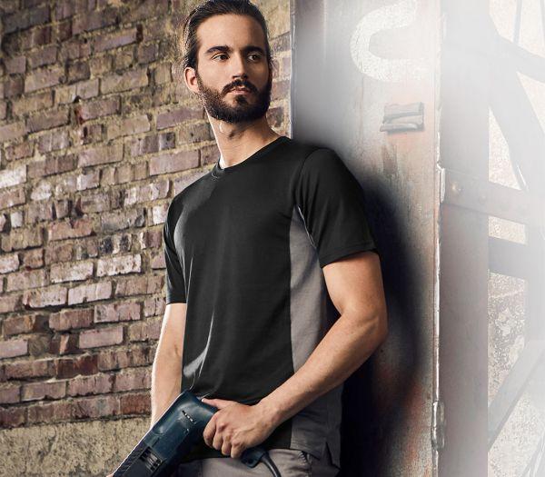 T-Shirt CoolDry schwarz/grau