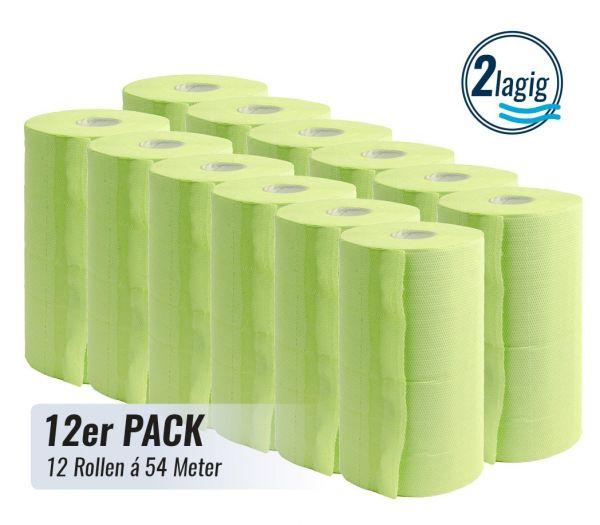 Putztuchrolle 2-lagig, 12er Pack hellgrün