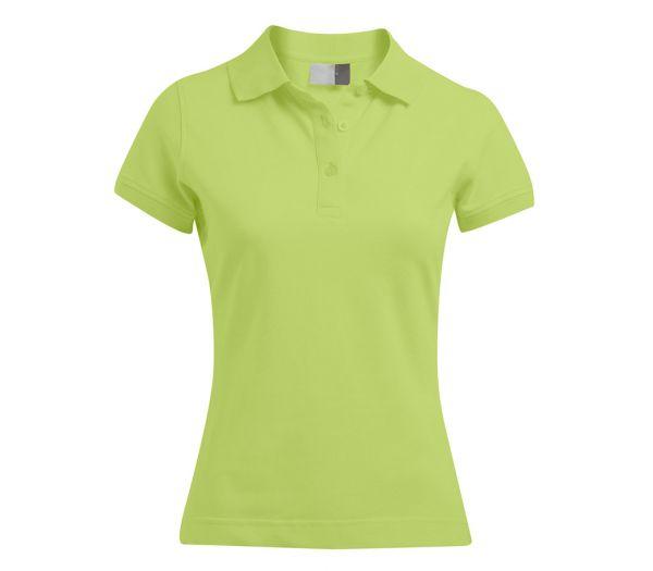 Damen Polo-Shirt STRETCH limette