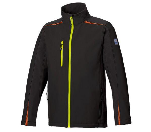 Softshelljacke BS ONE schwarz/orange/gelb