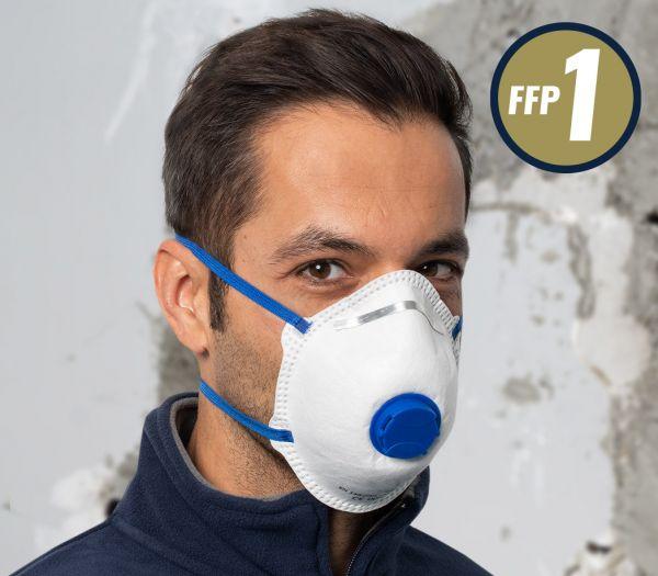 Atemschutzmaske mit Ventil FFP1 weiß