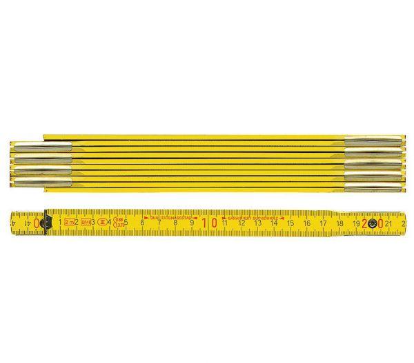 BMI Holzgliedermaßstab, 2m gelb