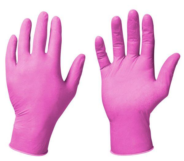 Einmalhandchuhe Nitril pink