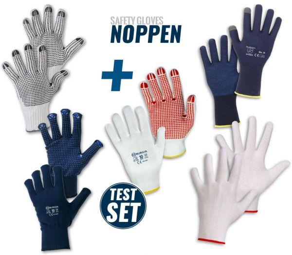 "Handschuh TEST-SET ""Noppen"" Diverse"