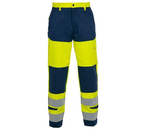 Multinorm Warnschutz-Arbeitshose warngelb/marine