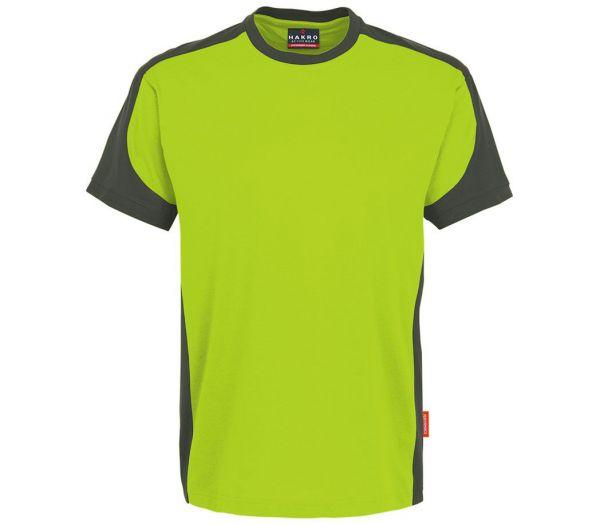 Hakro T-Shirt Performance Contrast limette/anthrazit