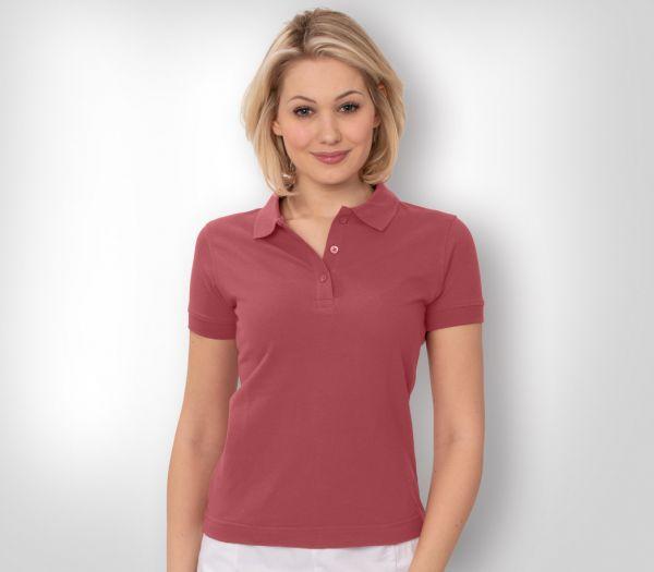 Damen Polo-Shirt Mischgewebe beere
