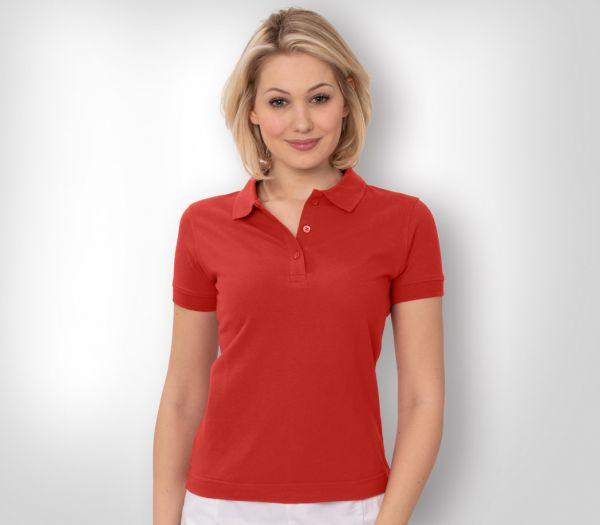 Damen Polo-Shirt Mischgewebe rot