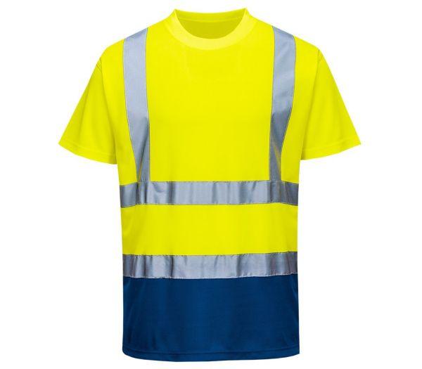Warnschutz T-Shirt Image warngelb/marine