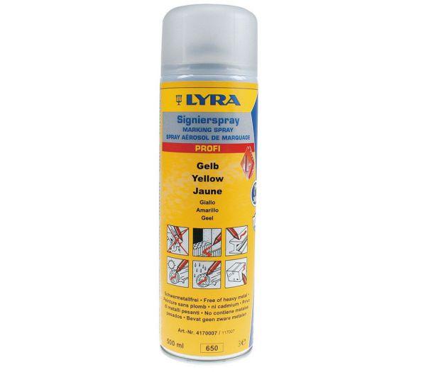 Lyra Signierspray, 500 ml gelb