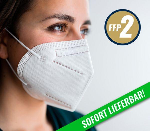 Mundschutzmaske -faltbar- FFP2 weiß