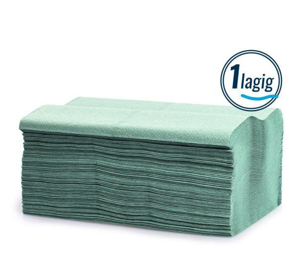 Papierhandtücher 1-lagig, 5000 Blatt grün