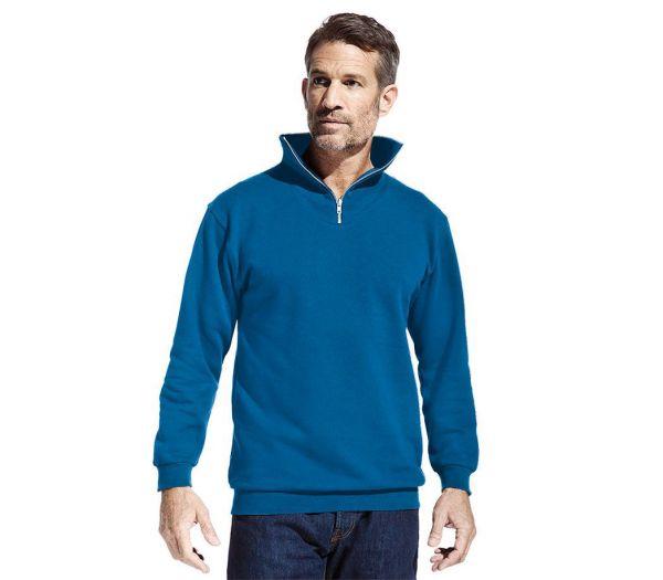 Sweatshirt mit Reißverschluss kornblau
