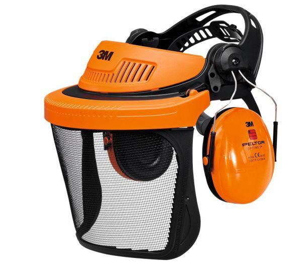 3M Freischneide-Set, Kopf- und Gehörschutz orange