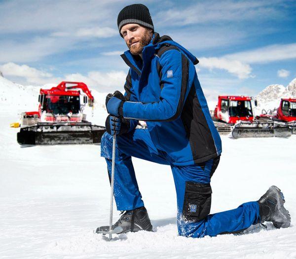 Winter Arbeitshose Image kornblau/schwarz