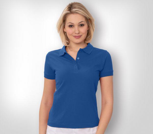 Damen Polo-Shirt Mischgewebe kornblau