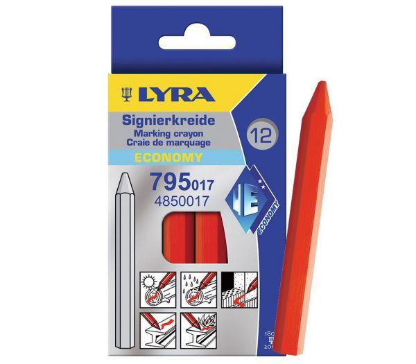 Lyra Signierkreide, 12er Pack rot