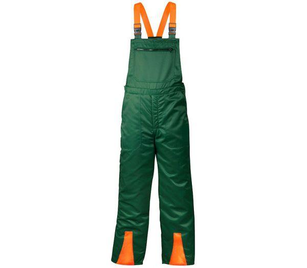 Schnittschutzhose grün/orange