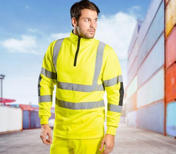 Warnschutz-Sweatshirt Premium warngelb