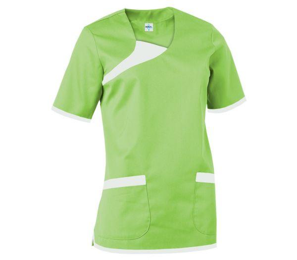 Damen Schlupfkasack grün/weiß