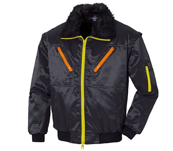 Pilotenjacke Image 4-in-1 schwarz/orange/gelb