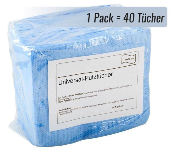 Universal-Putztücher, 40er Pack hellblau