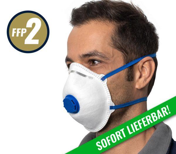 Atemschutzmaske FFP2 m. Ventil weiß