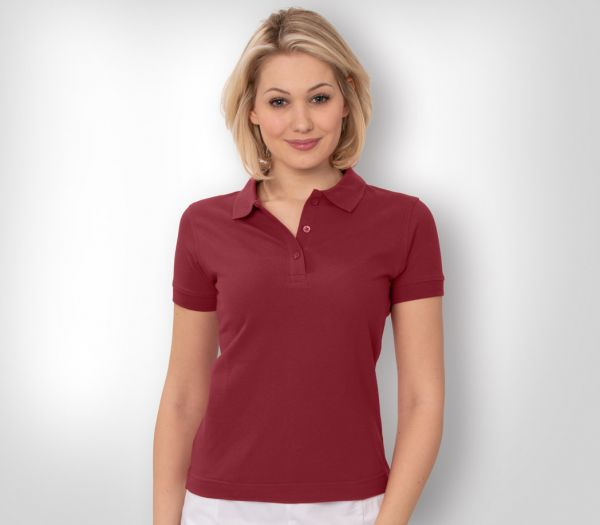Damen Polo-Shirt Mischgewebe bordeaux