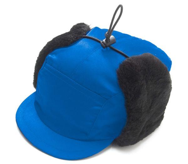 Mütze mit Ohrenklappen kornblau