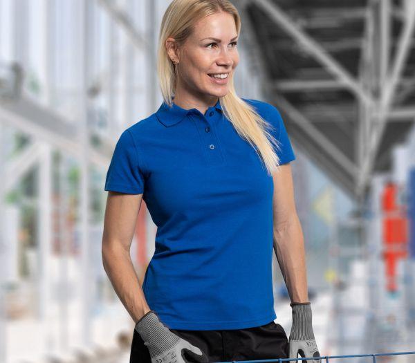 Damen Polo-Shirt kornblau