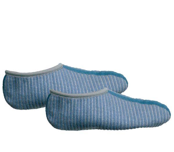 Einziehsocken 100% Baumwolle blau