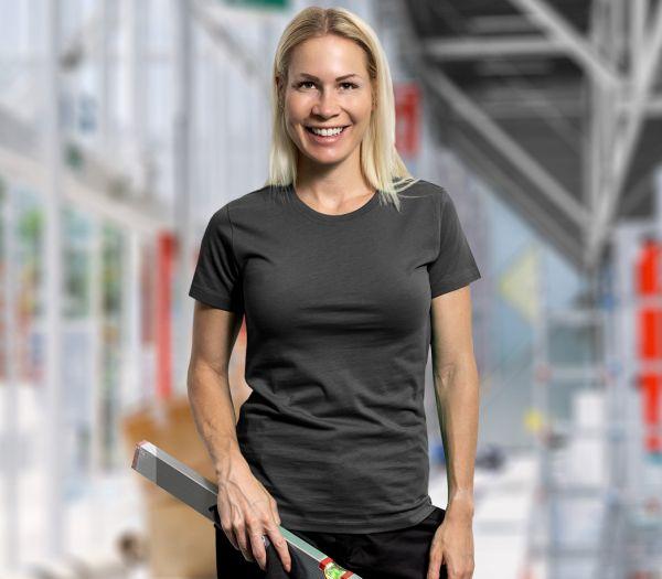 Damen T-Shirt Premium anthrazit