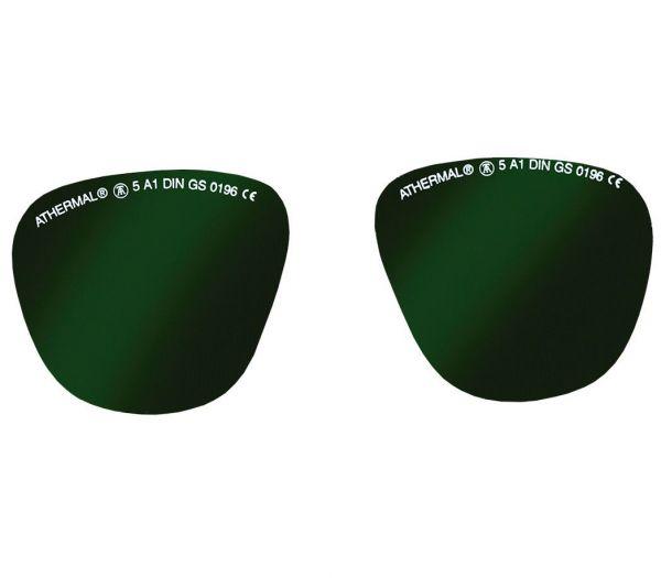 Ersatzgläser für Schweißerbrille getönt grün