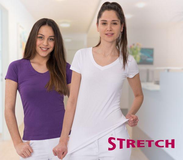 Damen T-Shirt STRETCH weiß