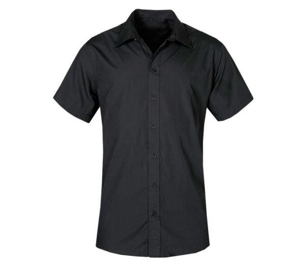 Herren Kellnerhemd kurzarm schwarz
