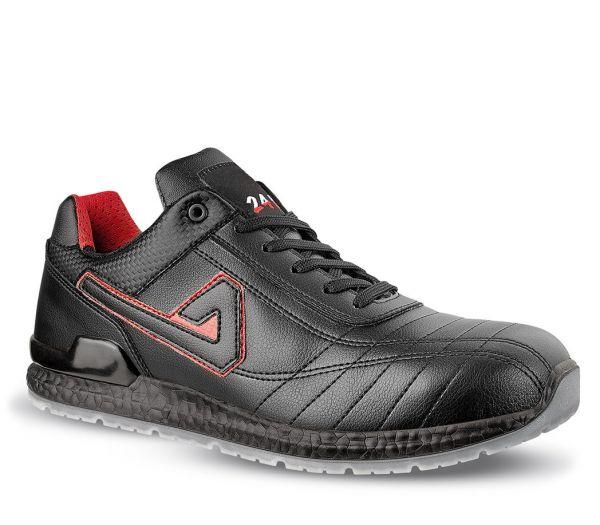 Sicherheitshalbschuhe S1P schwarz/rot