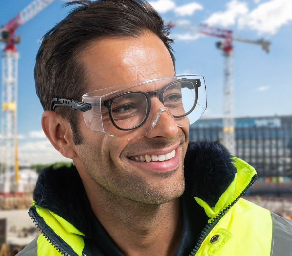 Überbrille für Brillenträger klar