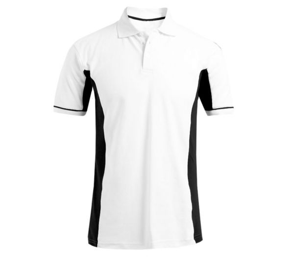 Poloshirt CoolDry weiß/schwarz