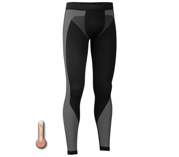 Funktionsunterhose lang schwarz/grau