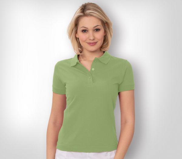 Damen Polo-Shirt Mischgewebe hellgrün