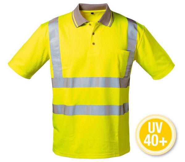 Warnschutz-Poloshirt UV 40+ warngelb