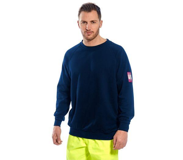 Sweatshirt flammhemmend marine