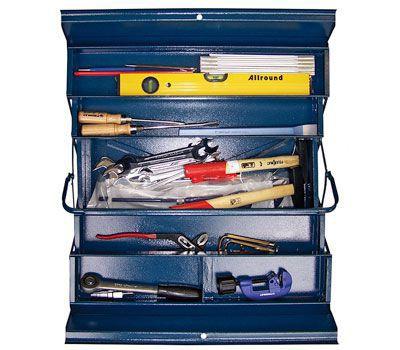 """Werkzeug-Set """"Heizung-Sanitär-Rohrschlosser"""" in Montage-Kiste"""