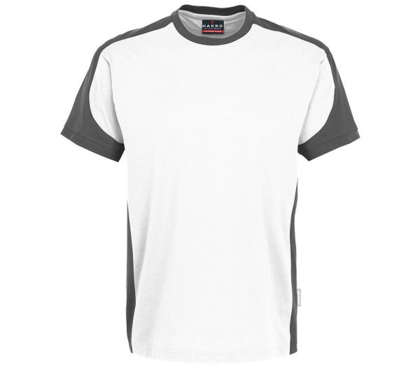 Hakro T-Shirt Performance Contrast weiß/anthrazit