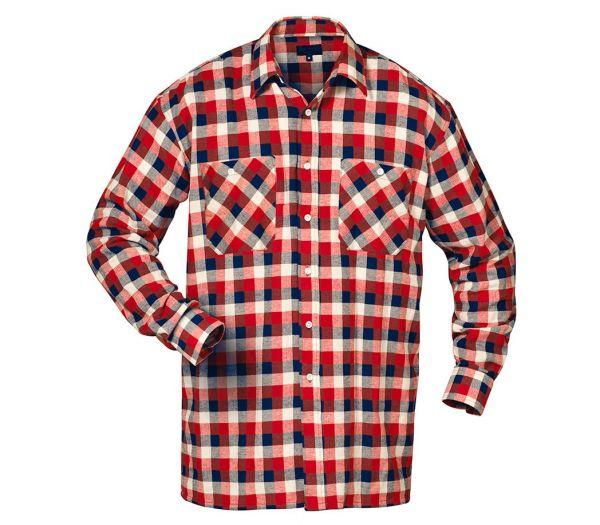 Flanellhemd rot/marine/weiß kariert