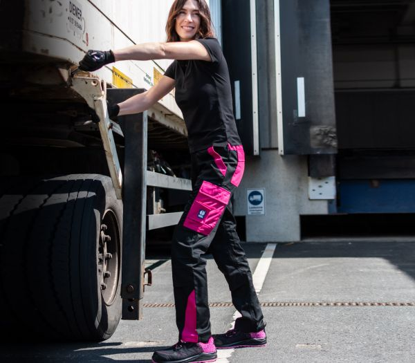 Arbeitshose Damen Image schwarz/pink