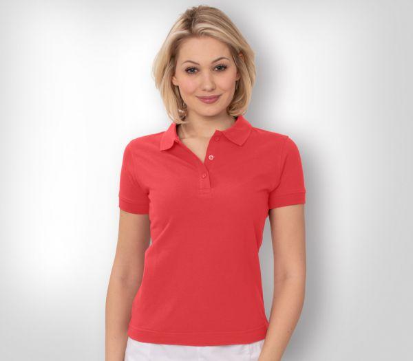 Damen Polo-Shirt Mischgewebe rosa