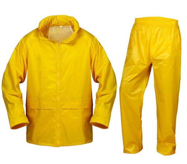 Regenschutz Set gelb